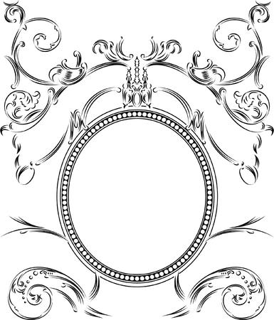 Royal Ornate One Color Calligraphy Vintage Frame Stock Vector - 8336565