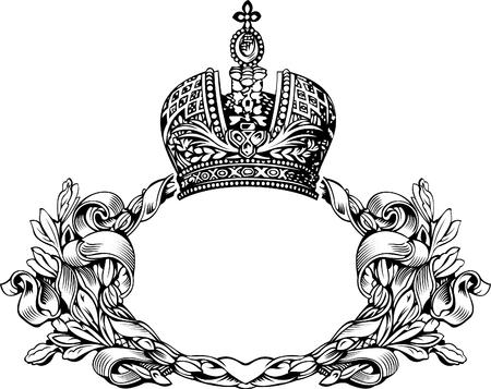 crown wings: One Color Retro Elegant Royal Crown Curves