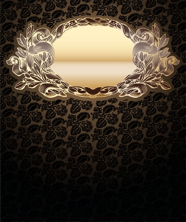 Vector Ornate Background With Glow Gold Medallion Stock Vector - 8336584