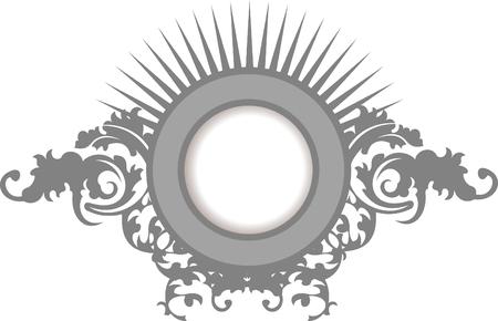 Elegance Silver Gray Floral Curves Ornate Frame Stock Vector - 8336487