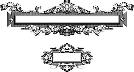 baroque: Antique Frame Engraving, Scalable And Editable Vector Illustration