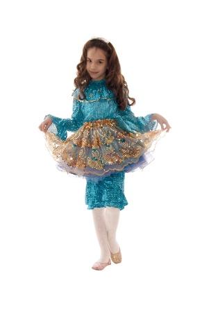girl socks: 白い背景の上の妖精の衣装で美しい少女