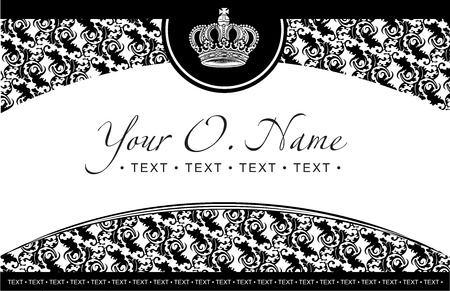 One Color Vector Small Title Frame And Pattern Illustration
