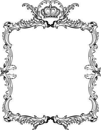 Decorative Vintage Ornate Frame. Vector Illustration. Vector