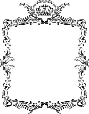 royalty: Decorative Vintage Ornate Frame. Vector Illustration.