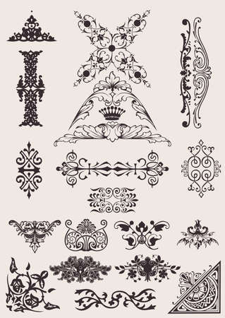 adornment: Set Of Different Style Design Elements