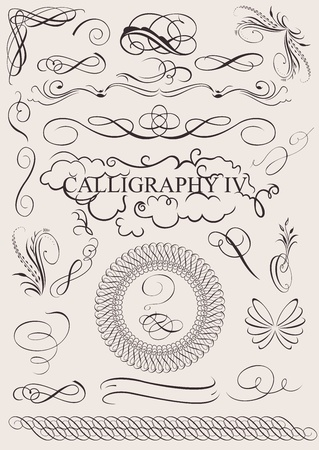 swash: vector set: calligraphic design elements and page decoration