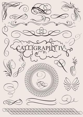 vector set: elementi di design calligrafici e la pagina di decorazione