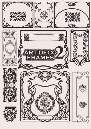 Set Of Art Deco Frames. Others In Portfolio. Stock Vector - 10704180