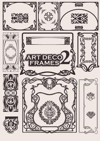 art deco frame: Set Of Art Deco Frames. Others In Portfolio.