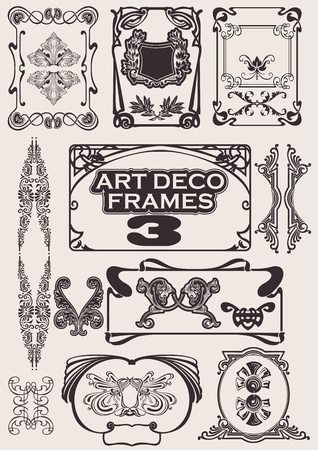tattoo art: Set Of Art Deco Frames. Others In Portfolio.