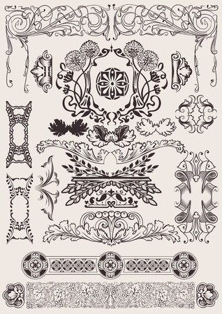 page decoration: vector set: calligraphic design elements and page decoration