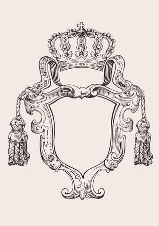 royalty: One Color Crown Insignia Isolated Illustration