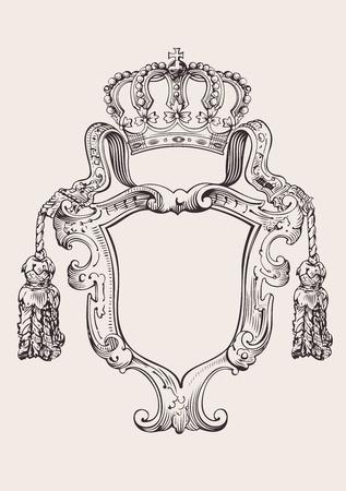 classic: Una Insignia de corona Color aislado Vectores