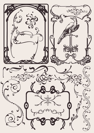 Set Of Art Deco Frames And Design Elements. Others In Portfolio. Vector