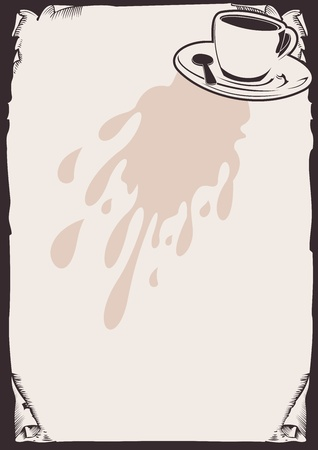 Cofee Background. Vector