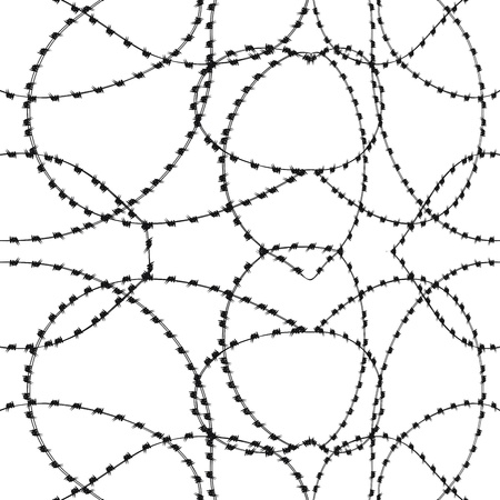 barbwire: One Color Seamless Barbwire Background Illustration