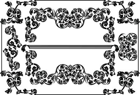Vintage Frames And Design Elements Stock Vector - 10704178
