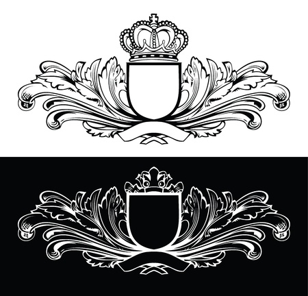 One Color King Frames Vector