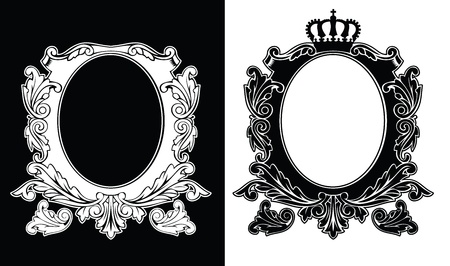 Royal Crown Luxury Vintage Composition Vector