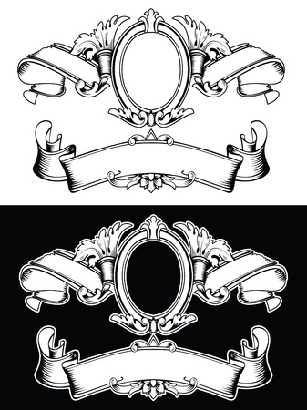 One Color Royal Crown Vintage Composition