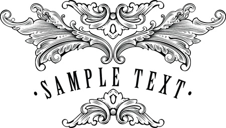 vintage ornamental frame template for your title