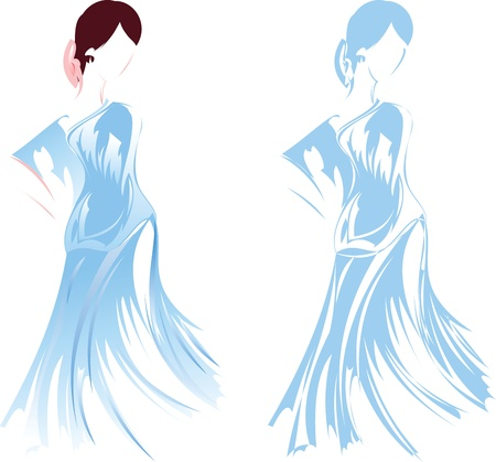 Romantic Girl Sketch Stock Vector - 13634319