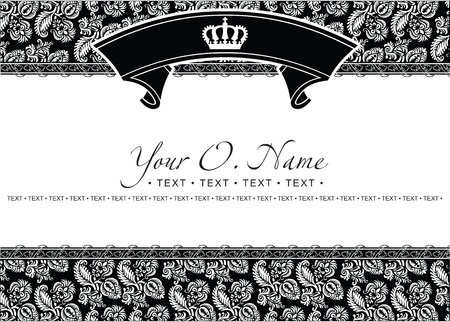 Vector Small Title Frame and Pattern Stock Vector - 13635201