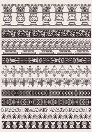 ornamentation: Big Set Of Vector Decorative Border Lines