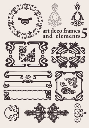 Set Of Art Deco Frames  Others In Portfolio Stock Vector - 18150432