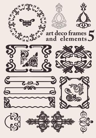 Set Of Art Deco Frames  Others In Portfolio Stock Vector - 18150432