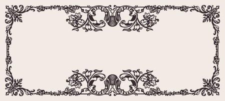 Antique Ornate Frame Scalable And Editable Vector Illustration Vector