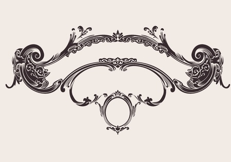 Royal Vintage Curves Banner Stock Vector - 18150416