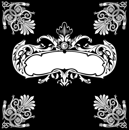 scroll shape: Decorative Royal Vintage Ornate Banner.