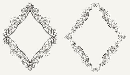 rhombus: Two Original Calligraphy Rhombus Frames