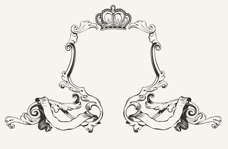 aristocratic: Elegant Royal Frame With Crown