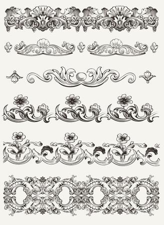 Set Di Original Vintage calligrafico elementi di design Vettoriali