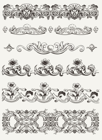 Set Of Original Vintage Calligraphic Design Elements
