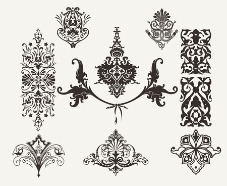 ornamental scroll: Vintage Design Elements And Page Decoration