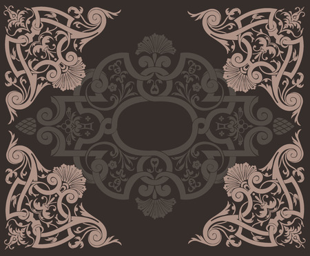 Abstract BrownOrnate Background Vector