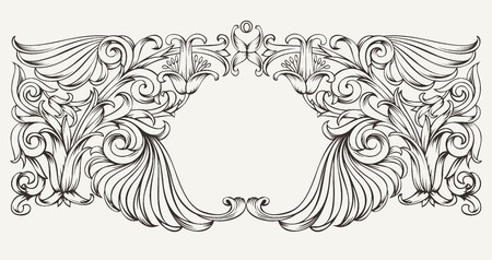 Vintage High Ornate Frame Background Vector