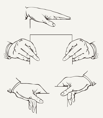 Set Of Hands. Vector Drawing. Stock Vector - 22296367