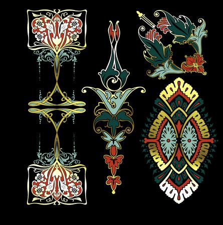 Color Decorate Vintage Design Elements Stock Vector - 22296368