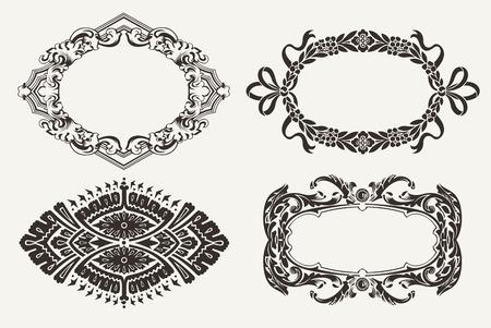Set Of Four Ornate Frames Stock Vector - 22296419