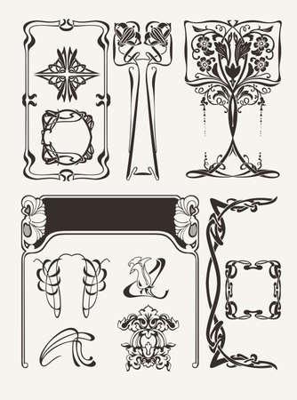Set Of Vintagу Art Deco Design Elements Stock Vector - 22296421