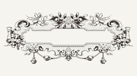 High Ornate Vintage Horizontal Banner Stock Vector - 22296422