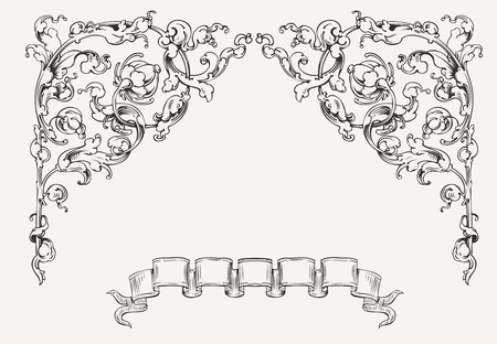 High Ornate Angles And Banner Stock Vector - 22296424