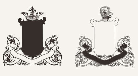 Two Heraldry Knight Crests