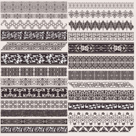 border line: Big Set Of Decorative Border Lines