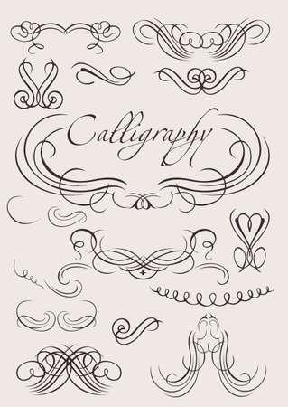 page decoration: instellen: kalligrafische designelementen en pagina decoratie